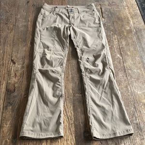 Prana Halle Roll Up Quick Dry Pants Tan Size 4